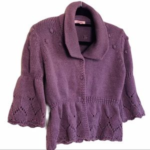 Anthro Hekla & Co Made In Italy Cardigan Sz M